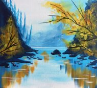 Canvas Painting Class on 10/24 at Muse Paintbar Gaithersburg