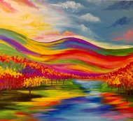 Canvas Painting Class on 10/16 at Muse Paintbar White Plains