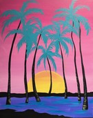 Canvas Painting Class on 08/07 at Muse Paintbar Virginia Beach