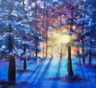 Canvas Painting Class on 02/26 at Muse Paintbar Woodbury