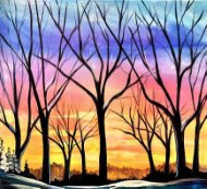 Canvas Painting Class on 02/06 at Muse Paintbar Woodbury