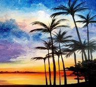 Canvas Painting Class on 08/29 at Muse Paintbar Great Neck