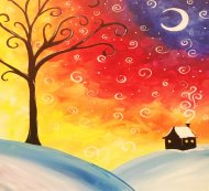 Canvas Painting Class on 01/27 at Muse Paintbar West Hartford