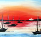 Canvas Painting Class on 08/02 at Muse Paintbar Virginia Beach