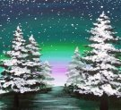 Canvas Painting Class on 12/18 at Muse Paintbar Ridge Hill