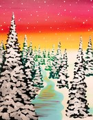 Canvas Painting Class on 02/22 at Muse Paintbar Patriot Place