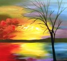 Canvas Painting Class on 02/21 at Muse Paintbar Providence