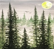 Canvas Painting Class on 03/29 at Muse Paintbar Patriot Place