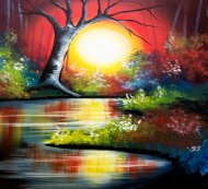 Canvas Painting Class on 03/14 at Muse Paintbar Patriot Place