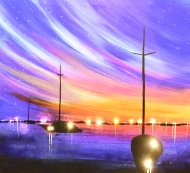 LED Canvas Painting on 07/06 at Muse Paintbar Patriot Place