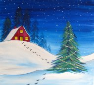 Canvas Painting Class on 12/10 at Muse Paintbar Port Jefferson