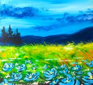 Canvas Painting Class on 08/19 at Muse Paintbar West Hartford