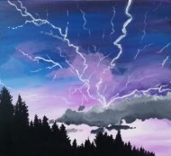 Canvas Painting Class on 10/04 at Muse Paintbar White Plains