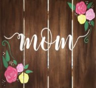 Wooden Sign Painting on 05/10 at Muse Paintbar Woodbridge