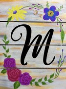 Wooden Sign Painting on 03/19 at Muse Paintbar Gaithersburg