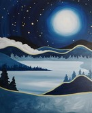 Canvas Painting Class on 12/19 at Muse Paintbar Hingham Shipyard
