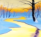 Canvas Painting Class on 01/19 at Muse Paintbar Patriot Place