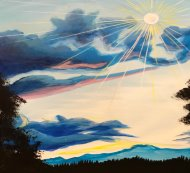 Canvas Painting Class on 05/19 at Muse Paintbar Virginia Beach