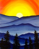 Canvas Painting Class on 01/11 at Muse Paintbar Ridge Hill