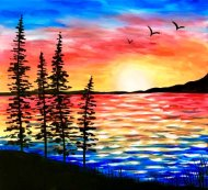 Canvas Painting Class on 11/09 at Muse Paintbar Norwalk