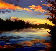 Canvas Painting Class on 09/07 at Muse Paintbar Lynnfield