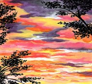 Canvas Painting Class on 11/19 at Muse Paintbar Lynnfield