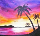 Canvas Painting Class on 07/14 at Muse Paintbar Patriot Place