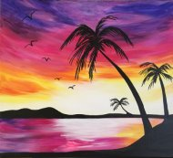 Canvas Painting Class on 04/28 at Muse Paintbar Hingham Shipyard