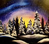 Canvas Painting Class on 02/29 at Muse Paintbar Manchester