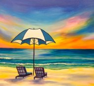 Canvas Painting Class on 08/14 at Muse Paintbar Manchester