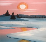 Canvas Painting Class on 01/25 at Muse Paintbar Assembly Row