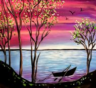 Canvas Painting Class on 05/15 at Muse Paintbar Glastonbury