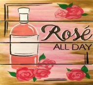 Wooden Sign Painting on 02/11 at Muse Paintbar Woodbridge