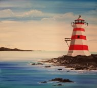 Canvas Painting Class on 03/28 at Muse Paintbar Hingham Shipyard