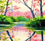 Canvas Painting Class on 05/19 at Muse Paintbar Patriot Place