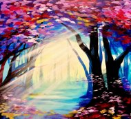 Canvas Painting Class on 03/09 at Muse Paintbar National Harbor