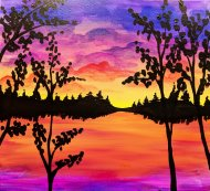 Canvas Painting Class on 03/01 at Muse Paintbar Lynnfield
