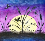 Canvas Painting Class on 07/29 at Muse Paintbar Patriot Place