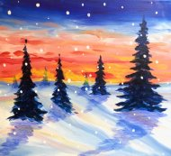Canvas Painting Class on 01/18 at Muse Paintbar Great Neck