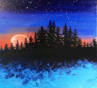 Canvas Painting Class on 10/21 at Muse Paintbar Patriot Place