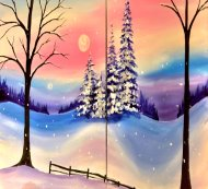Couple's Paint Night on 12/07 at Muse Paintbar Port Jefferson