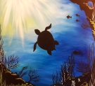Canvas Painting Class on 08/18 at Muse Paintbar White Plains