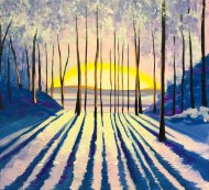 Canvas Painting Class on 01/10 at Muse Paintbar NYC - Tribeca