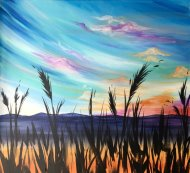 Canvas Painting Class on 08/28 at Muse Paintbar Milford
