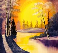 Canvas Painting Class on 01/29 at Muse Paintbar Patriot Place