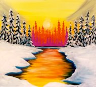 Canvas Painting Class on 12/07 at Muse Paintbar Patriot Place