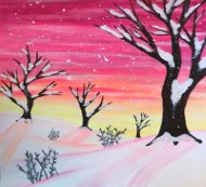 Canvas Painting Class on 01/17 at Muse Paintbar Glastonbury