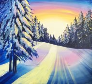 Canvas Painting Class on 12/28 at Muse Paintbar Patriot Place