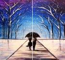 Snowy Evergreens - Muse Paintbar