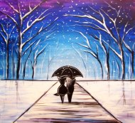 Canvas Painting Class on 12/22 at Muse Paintbar Woodbury